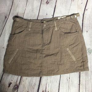 DA-NANG Surplus brown mini skirt